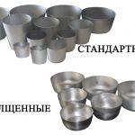 Алюминиевые формы для выпечки пасок и куличей.