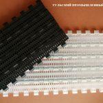 Прямоходная модульная конвейерная лента закрытого типа с шагом 25 (полипропилен - РР) (POM)