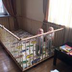Большой детский деревянный манеж 1.3х2.6м с калиткой