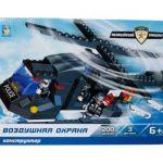 Конструктор пластиковый   воздушная охрана полицейский спецназ вертолет легосовместимый