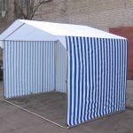 Палатки торговые на оцинкованном каркасе  Д 25мм,  столы складные.