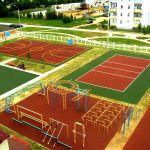 Строительство спортивных, игровых и детских площадок. Поставка и укладка покрытий для площадок