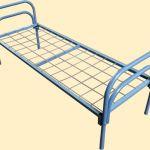 Кровати металлические пружинные для времянок оптом