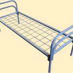 Кровати металлические для больниц оптом на пружинах дешево